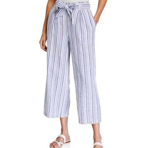 MAX EDITION Wide Leg Striped Down Pants